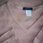 Tan V Neck Fitted Long Sleeve Shirt M is being swapped online for free