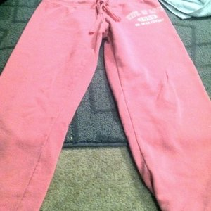 Pink Wet seal capri sweats is being swapped online for free