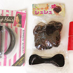Lots of hair products, cele-up, curler,ribbon clip,wig hair scrunchies is being swapped online for free