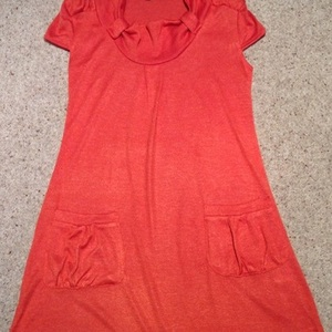 Orange Knit Tunic Dress - size 8.  is being swapped online for free
