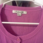 Brightest Pink F21 3/4 Sleeve Cardigan SMALL is being swapped online for free
