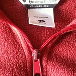 Red fleece Ladies Columbia jacket is being swapped online for free