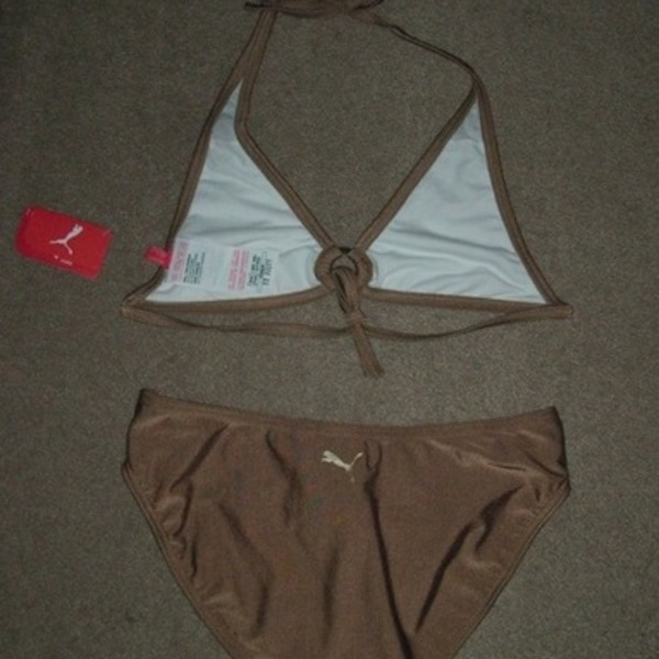 SOLD New Bronze Puma Bikini Bathing Suit XS is being swapped online for free