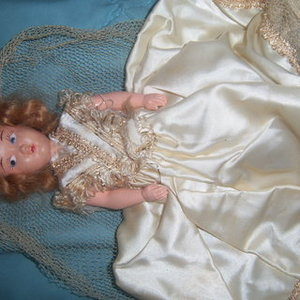 Antique very old DOLL wedding is being swapped online for free