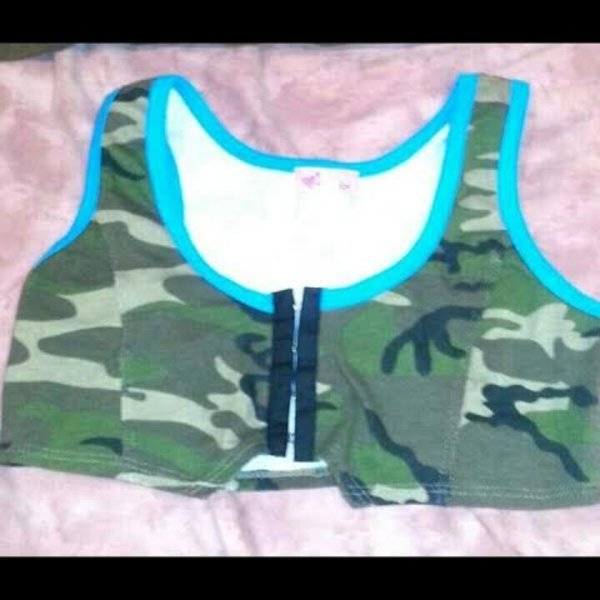 Camo Crop Top/Bustier is being swapped online for free