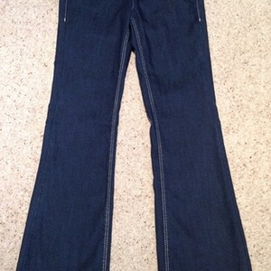 Dorothy Perkins Blue Denim Flare Jeans - UK Size 6. is being swapped online for free