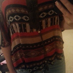 tribal print top is being swapped online for free