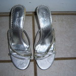 5.5 to 6 silver straps HEELS  is being swapped online for free