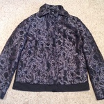 ASOS Floral Jacquard Bomber Jacket - Size UK 6, purple/ black.  is being swapped online for free