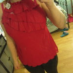 red flowy top is being swapped online for free