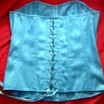 aqua/turquoise corset is being swapped online for free