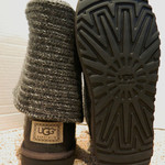 Ugg Grey Knit Boots Womens 7 is being swapped online for free
