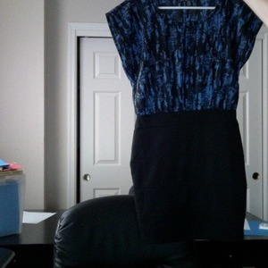 Black and blue Forever 21 dress small is being swapped online for free