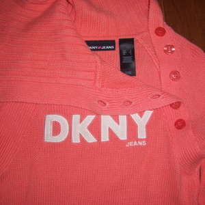 Small DKNY sweater with unique neck is being swapped online for free