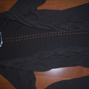 Long SWEATER jacket XS Small brown is being swapped online for free