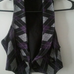 Purple grey black plaid vest from charlotte russe is being swapped online for free
