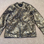 ASOS Metallic Jacquard Bomber Jacket - Size UK 6, gold and black.  is being swapped online for free