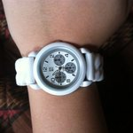 NY&C white jelly watch is being swapped online for free