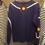 Vintage Navy Nautical Cardigan is being swapped online for free