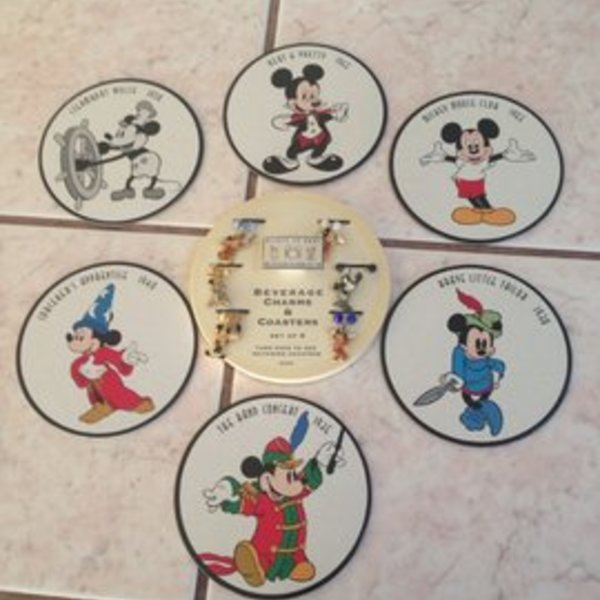 Disney collectable charms and coasters is being swapped online for free