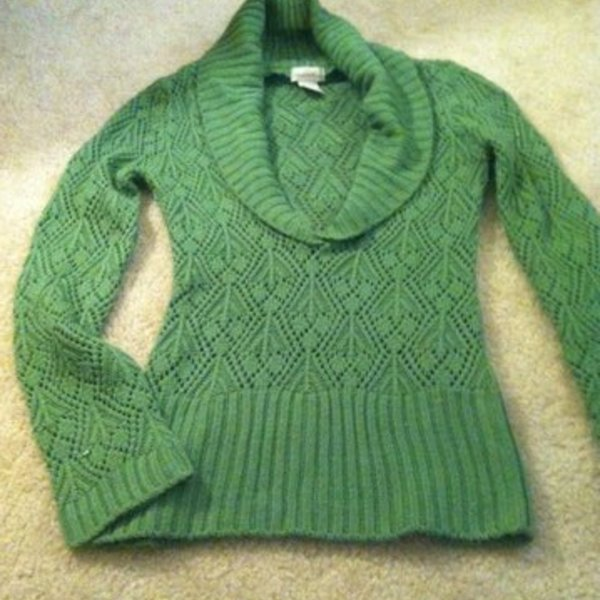 Cute green sweater is being swapped online for free