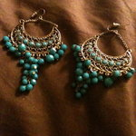 Turquoise & Gold Earring Set is being swapped online for free