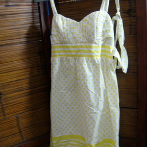 Cute Yellow and White Dress is being swapped online for free