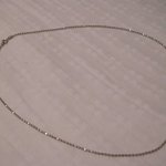 Silver chain necklace is being swapped online for free