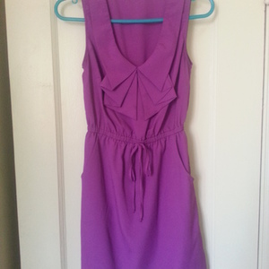 Purple spring dress S is being swapped online for free