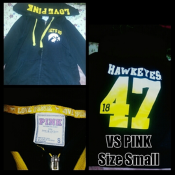 vs pink iowa hawkeyes zip up is being swapped online for free