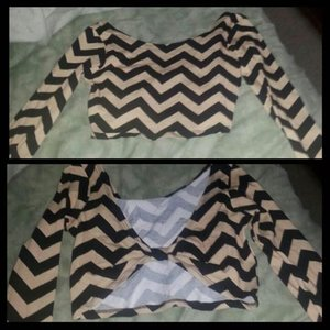 Bow back chevron crop top is being swapped online for free