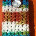 Crocheted Button up Cell phone/ Ipod case is being swapped online for free