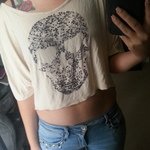 Charlotte Russe sparkle and skull crop top is being swapped online for free