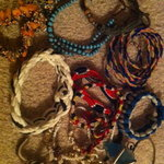 Lot of assorted boho bracelets  is being swapped online for free