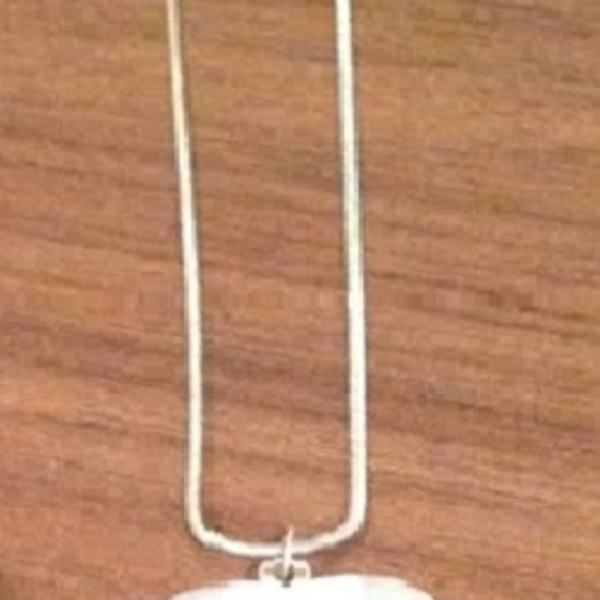 White Heart Pendant/ Necklace - One Size. is being swapped online for free