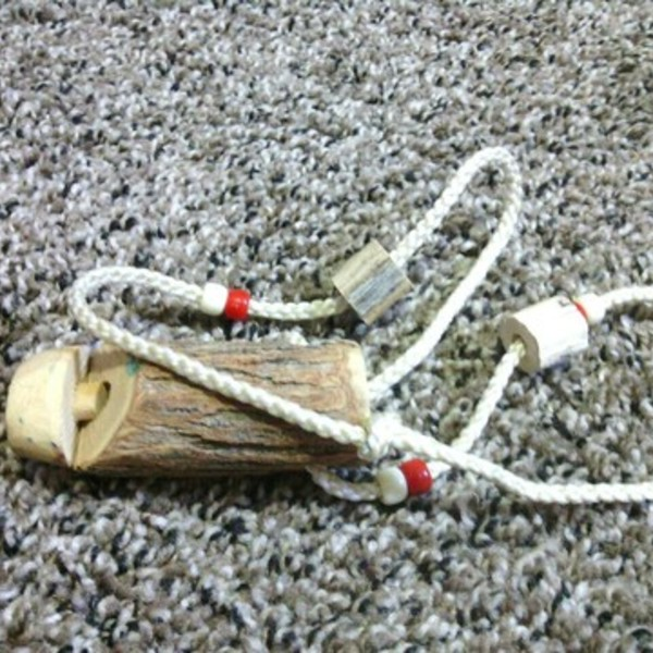 HAND-CARVED NATIVE AMERICAN ANTLER WHISTLE is being swapped online for free