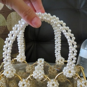 Rare Vintage Clear Pearls Bag- think wedding is being swapped online for free
