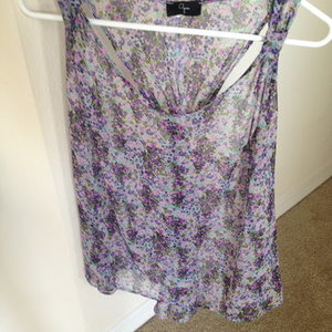 Flowery Racerback Tank by Aqua is being swapped online for free