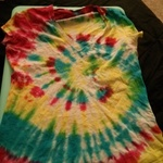 tiedye tee shirt is being swapped online for free