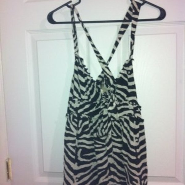 Michael Kors zebra top size 10 m/l is being swapped online for free
