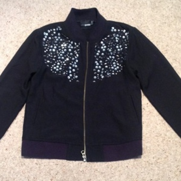 ASOS Petite Studded Bomber Jacket - Size UK 6.  is being swapped online for free