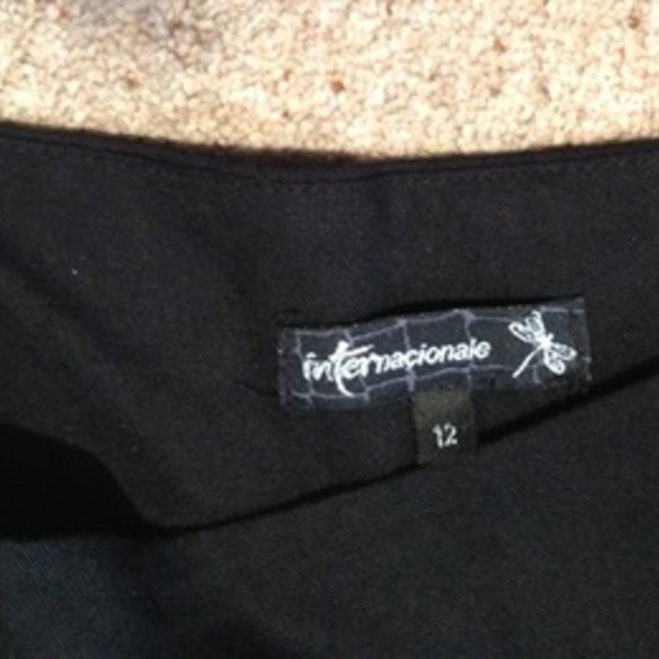 Internacionale Black Palazzo Trousers - Size UK 12. is being swapped online for free