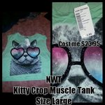 Nwt cat crop muscle tank is being swapped online for free