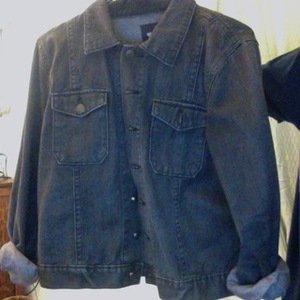 Black jean jacket -Gap is being swapped online for free