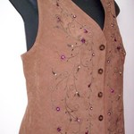 Brown w/Flowers & Vines Vest M is being swapped online for free