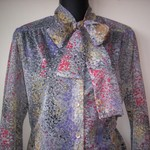 Vintage Sheer Abstract Blouse S-M is being swapped online for free