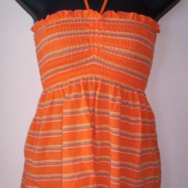 Orange Stripe Tube Top Shirt M is being swapped online for free