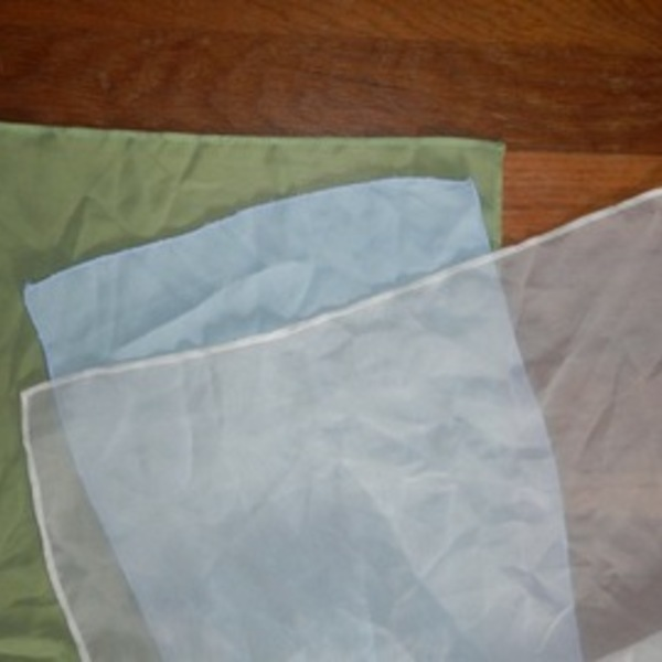 Scarf Lot - Blue, Green, Cream is being swapped online for free
