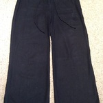 Black Palazzo/ Wide Leg Trousers - Size UK 12. is being swapped online for free