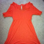 bright orange heathered top is being swapped online for free